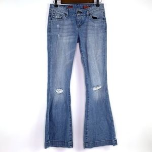Express Stella Fit and Flare Distressed Jeans Size 2